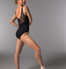So Danca RDE-1823ME Sara Mearns Collection Swoop Neck Leotard w/Mesh Inserts Adult