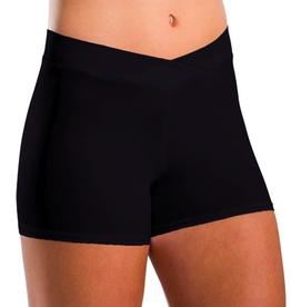 Bloch 7113 V-Waist Shorts (2 3/4 in. Inseam) Adult