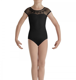 Bloch CL7910 Heart Mesh Cap Sleeve Leo Youth