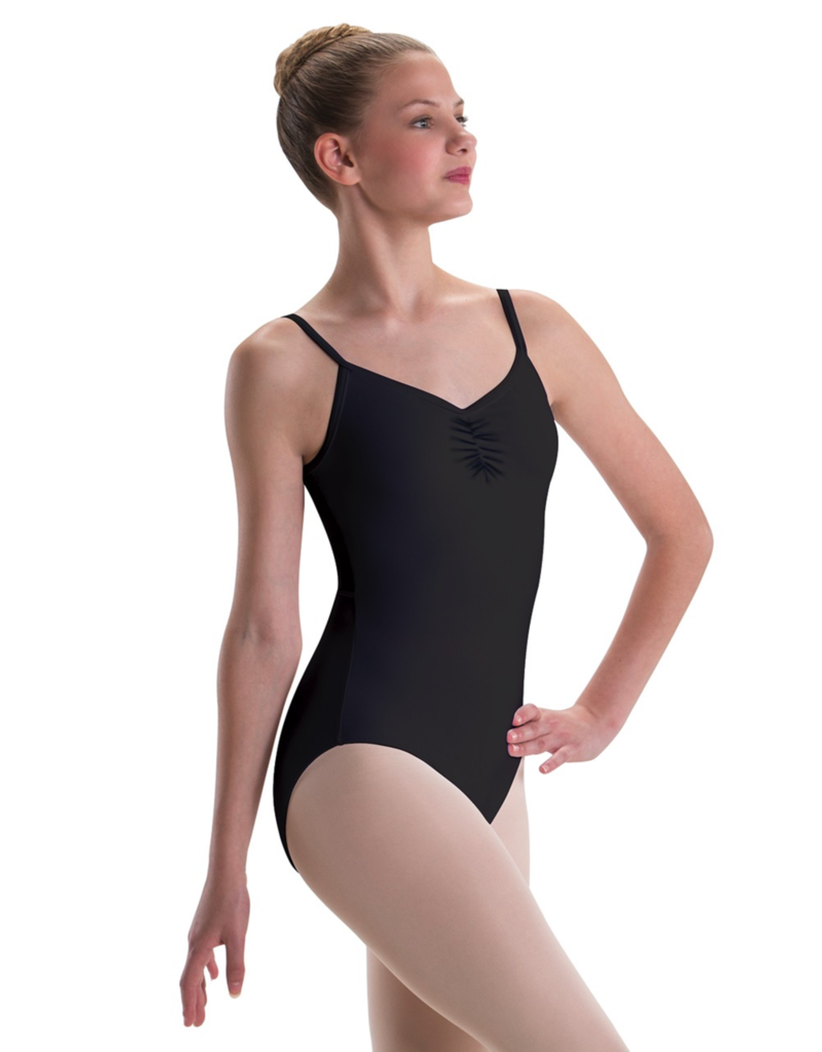 Motionwear 2530 Pinch Front Mesh Back Cami Leotard Adult