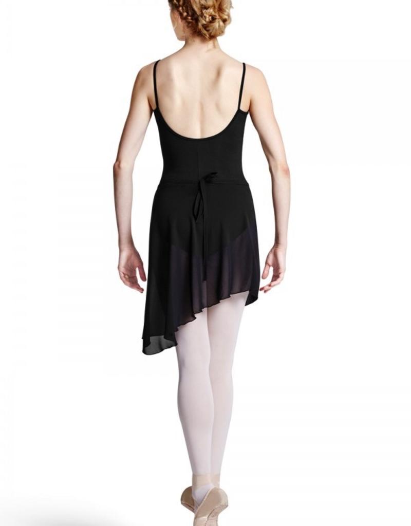 Bloch R8811 Asymmetrical Ballet Wrap Skirt Maroney Adult