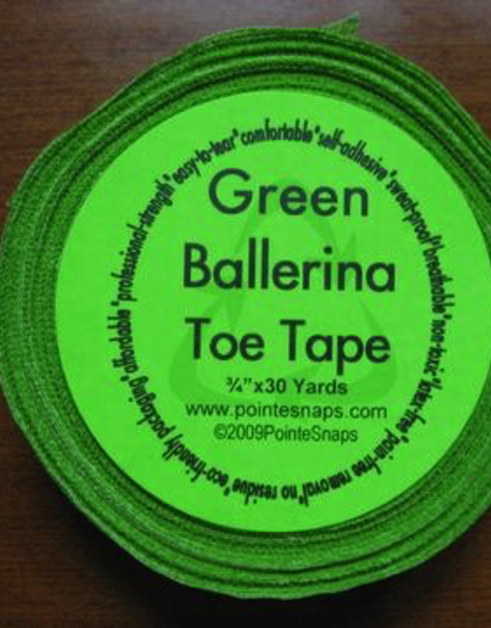 Pointe Snaps Green Ballerina Pointe Tape