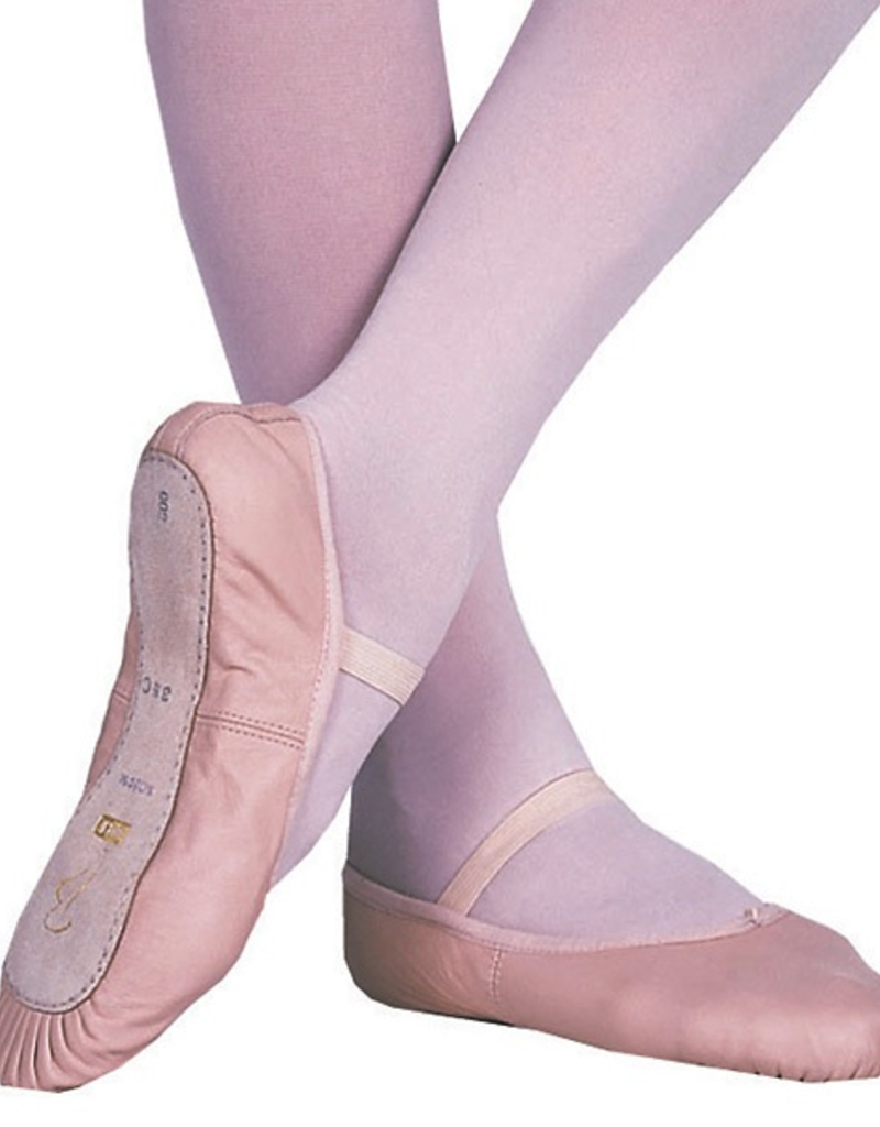 Bloch S0205G Pink Full Sole Leather Ballet Slipper Youth