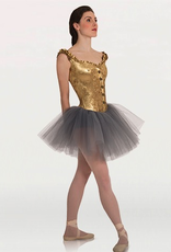 Bodywrappers Tutu W/Off Shoulder Metallic Panné Velvet Corset