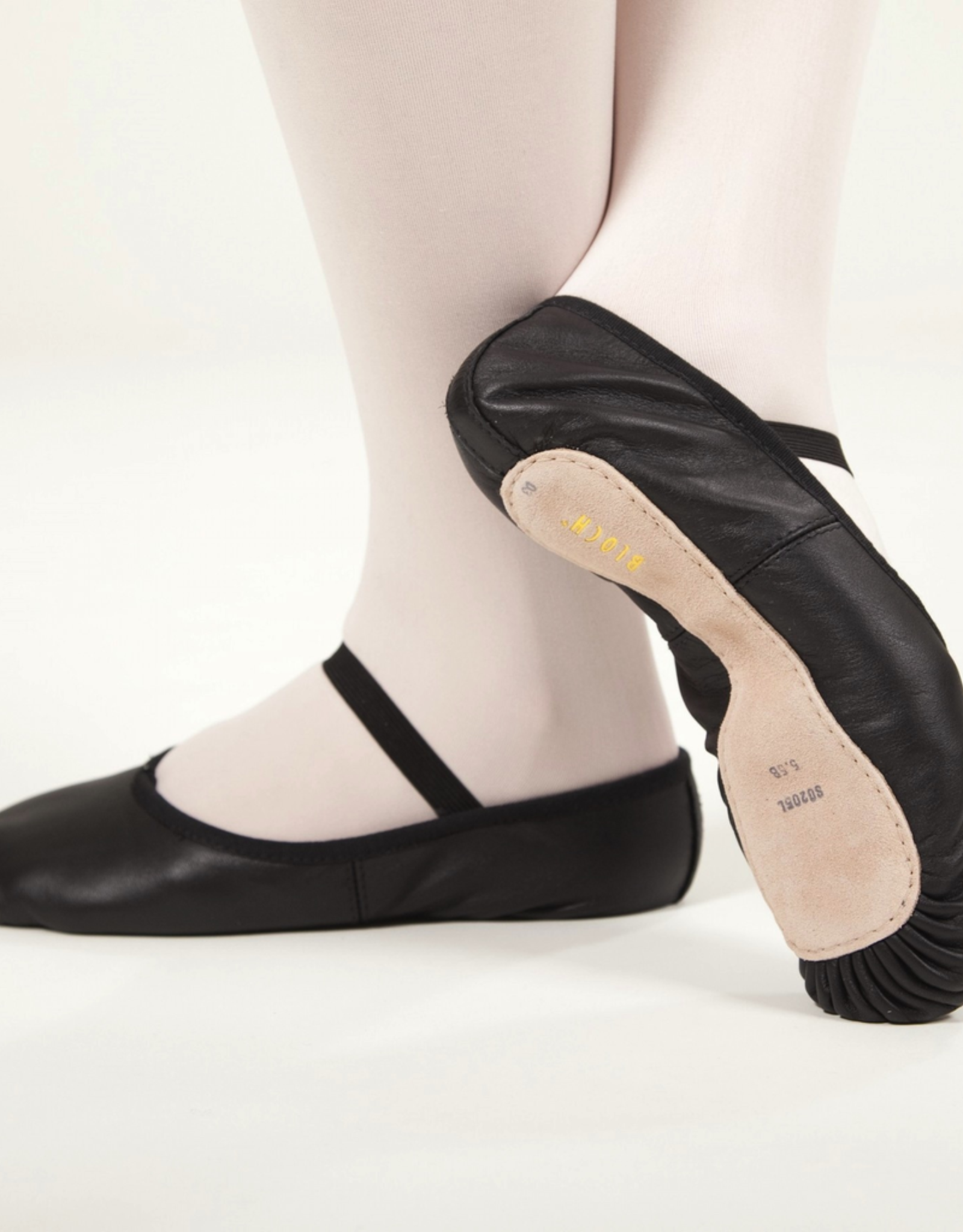 Bloch S0205G Black Full Sole Leather Ballet Slipper Youth