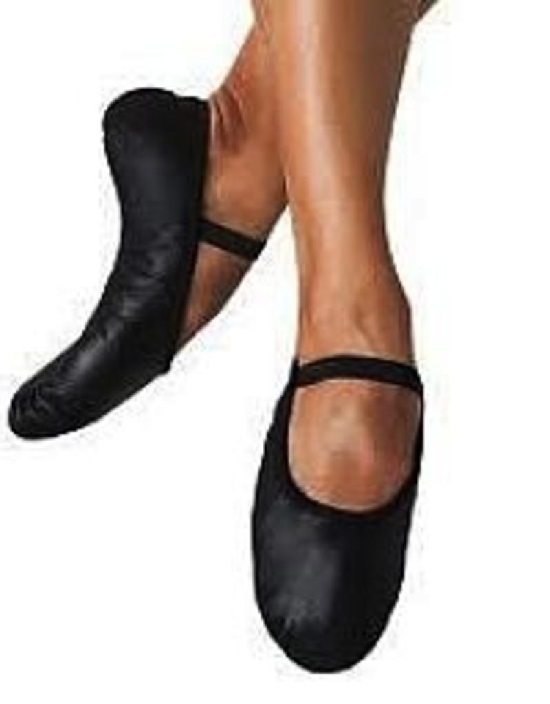Bloch S0205G Black Full Sole Leather Ballet Slipper Youth