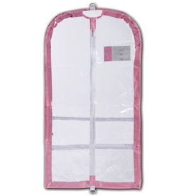 Danshuz B595 Clear Competition Garment Bag Pink