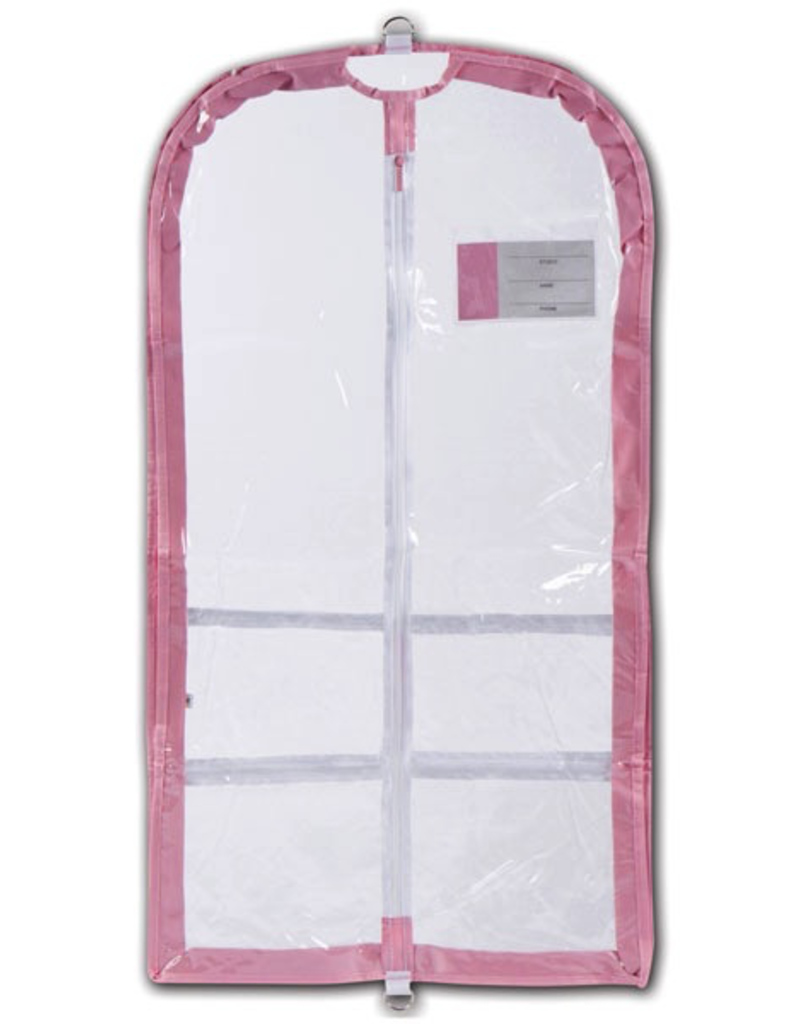 Danshuz B595 Clear Competition Garment Bag Pink