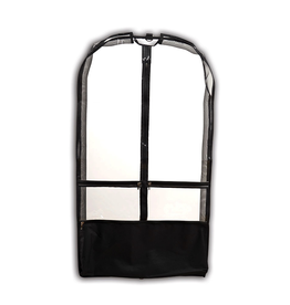 Danshuz B597 Clear Competition Garment Bag Black