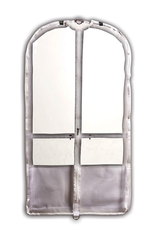 Danshuz B598 Clear Competition Garment Bag White