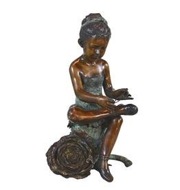 Bronze Ballerina With Rose B106
