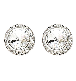 Dasha Small Competition Earrings Post 8mm/13mm Crystal