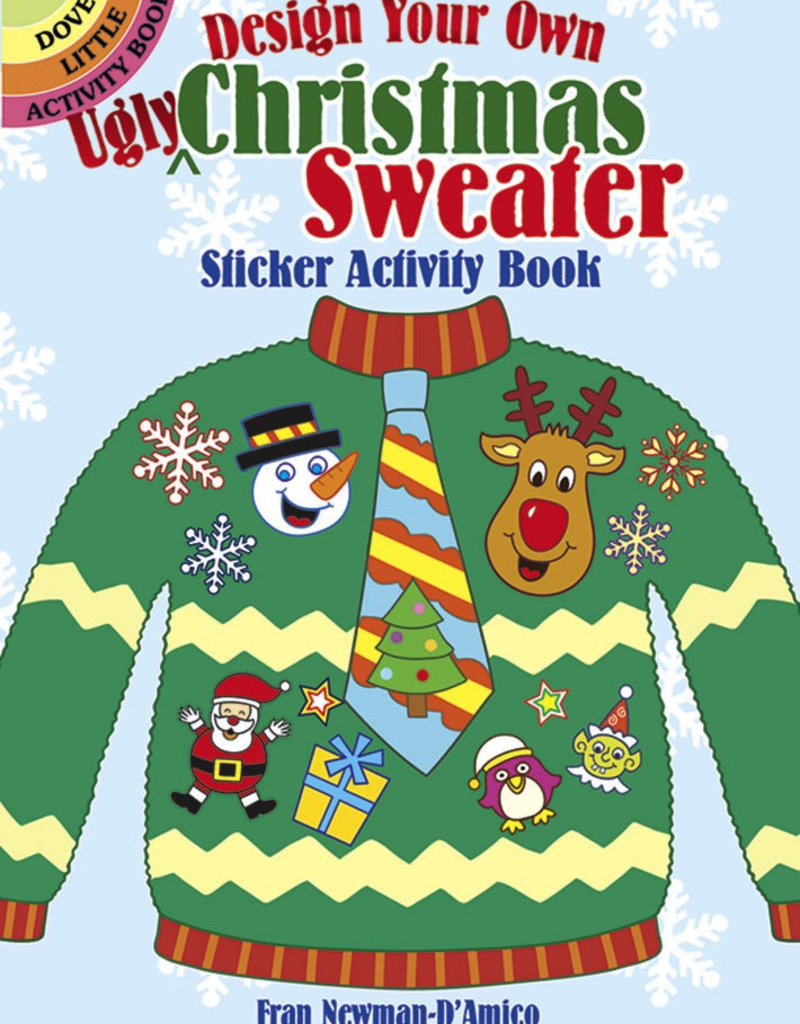 Dover Design Your Own Ugly Christmas Sweater Sticker Activity Book