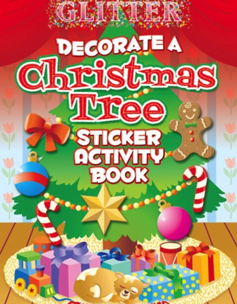 Dover Glitter Decorate a Christmas Tree Sticker Activity Book