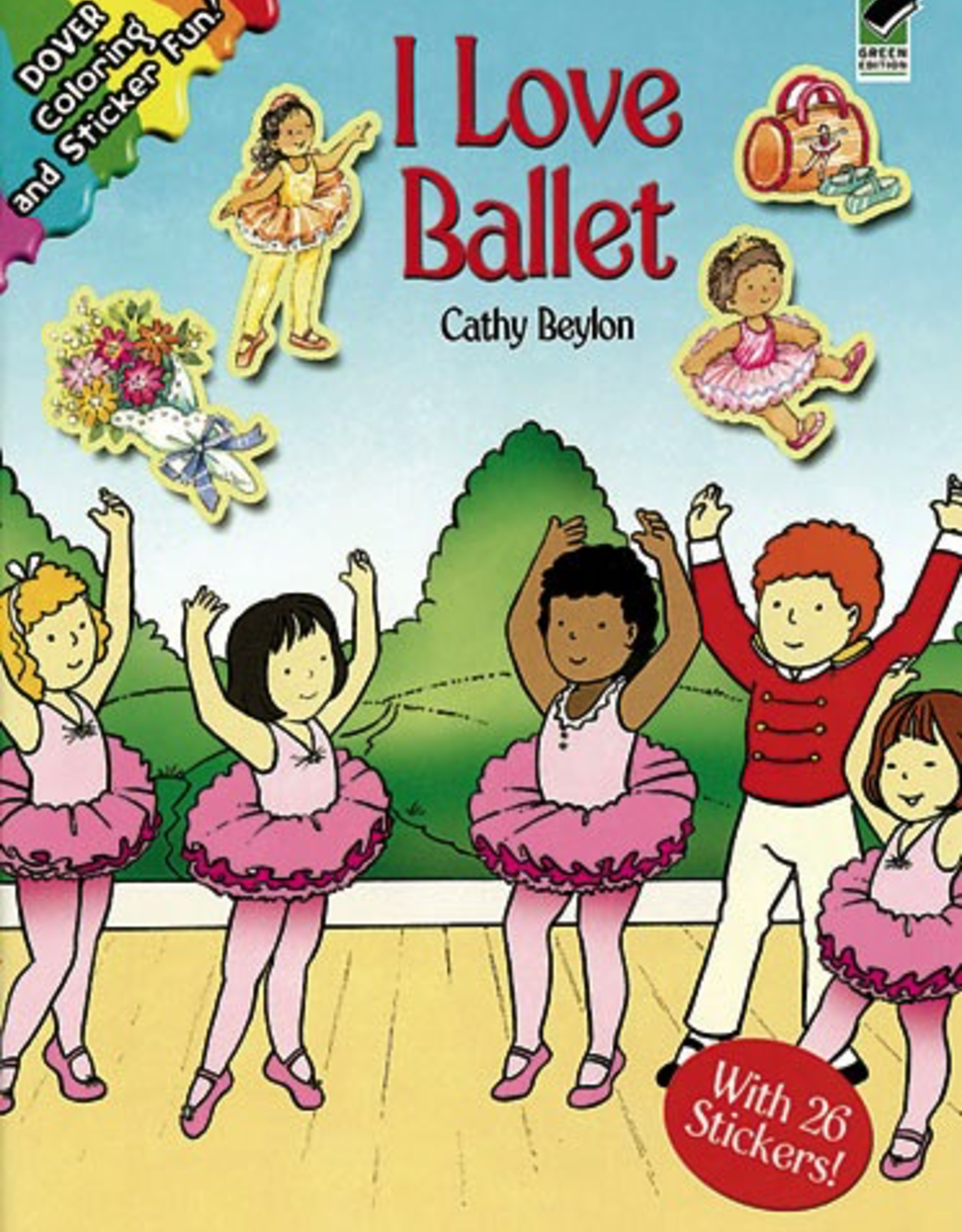 Dover I Love Ballet Coloring and Sticker Book