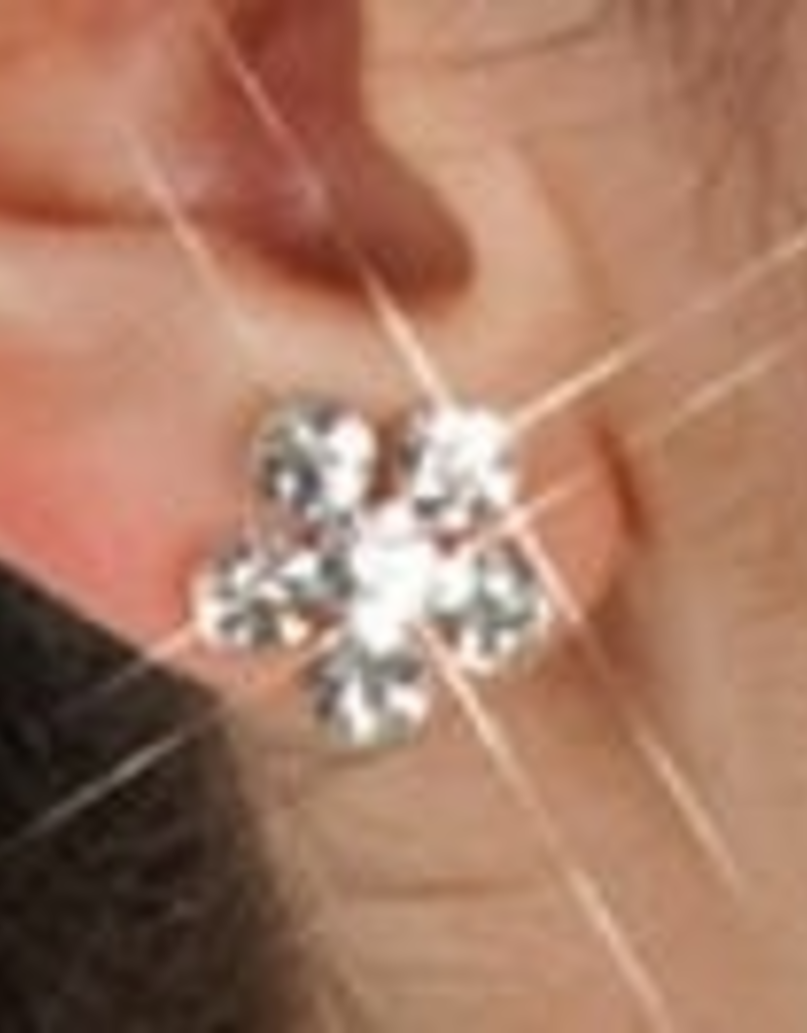 Bodywrappers Flower Clip-On Earrings