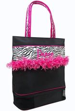 Sassi Designs ZBR-02 Zebra Pink Fringe Dance Bags