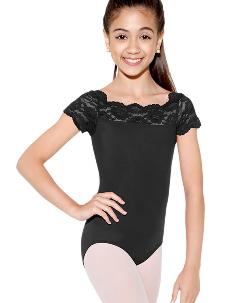 So Danca SL-17 Child Cap Sleeve Lace Leotard