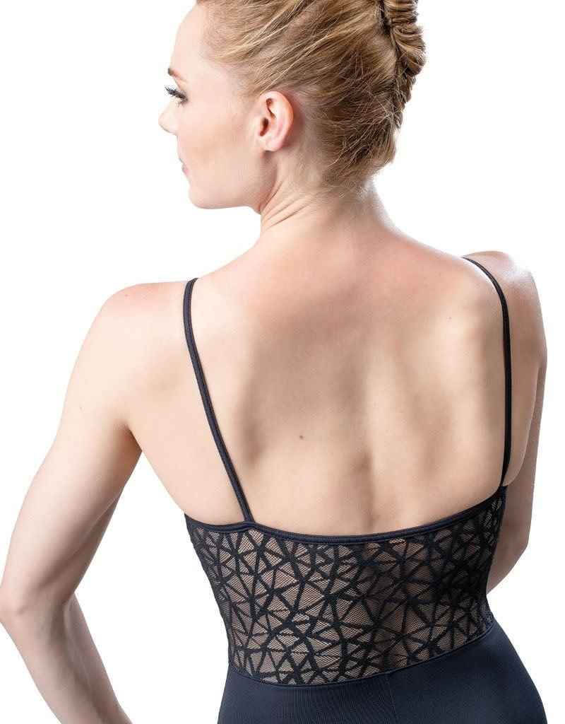 So Danca RDE-1911 Adult Camisole Leotard with a Webbed Mesh V-Cut Insert (SMxSD)