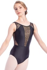 So Danca RDE-1906 Adult Shimmer Leotard with Gold Tulle (SMxSD)