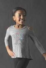 Motionwear Nutcracker Girls Cold Shoulder Top