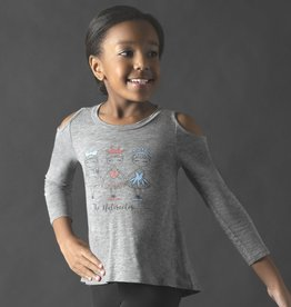 Motionwear Nutcracker Girls Cold Shoulder Top