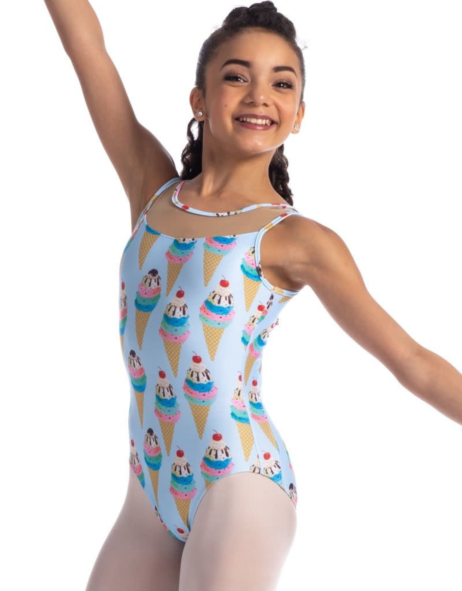 So Danca L-1869 Sweets Tank Leotard with Mesh Youth