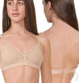 Eurotard Womens Seamless Padded Wide Band Bra #95624