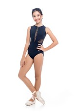 So Danca L-1857 Youth Mandarin Collar Leotard with Clasp Back