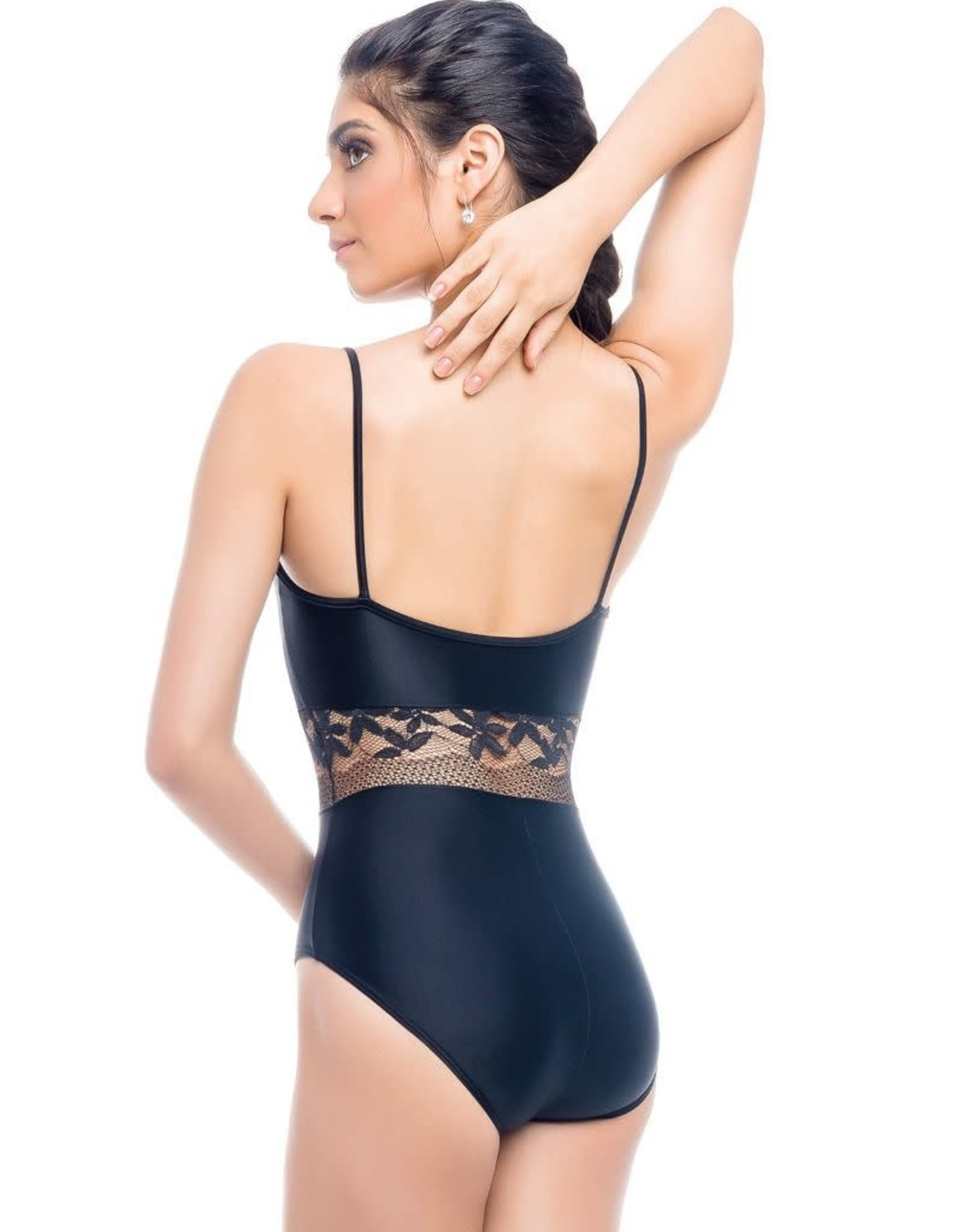 So Danca L-1989 Youth Camisole Leotard with Lace on Mid and Top Bodice