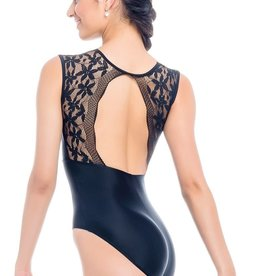 So Danca RDE2023 Adult Tank Leotard with Open Back and Lace on Upper Bodice