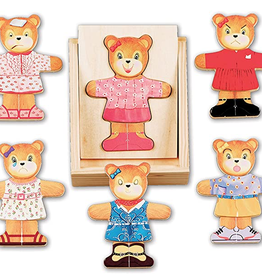 Melissa and Doug Wooden Bear Dress Up Puzzle with 18 pieces