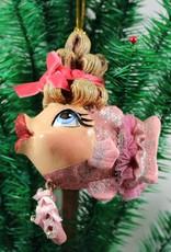 Ballerina Kissing Fish Ornament
