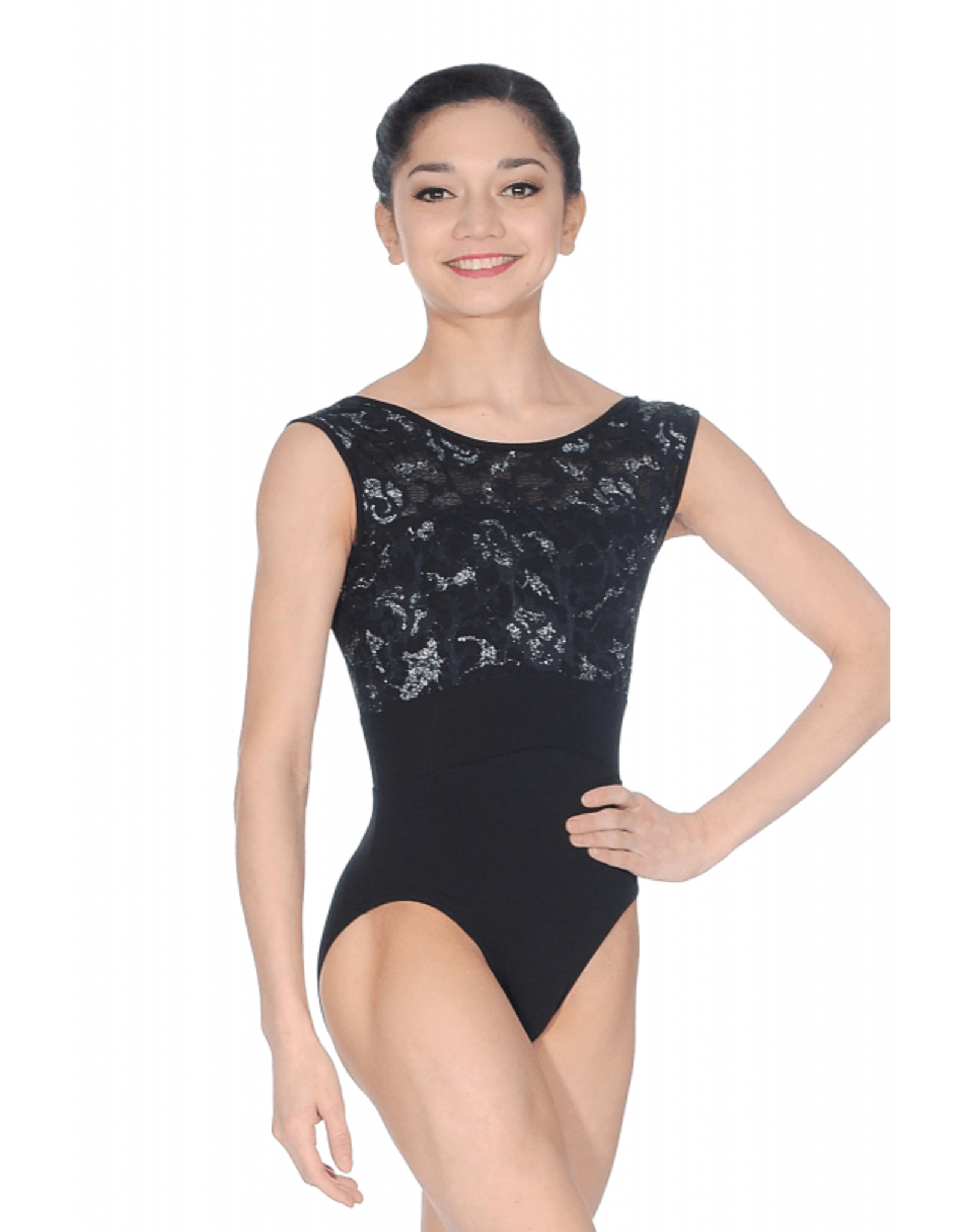 So Danca RDE-1769 Adult Leotard with Shimmer Lace