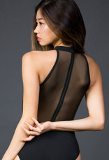 Suffolk Mock Turtleneck with Mesh Zip Back Adult 2286A