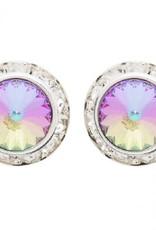Dasha Small Competition Earrings Post 8mm/13mm Aurora Borealis