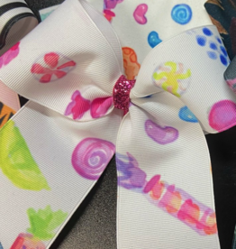 Lil Divas Dancewear Bow in Sugar Babies