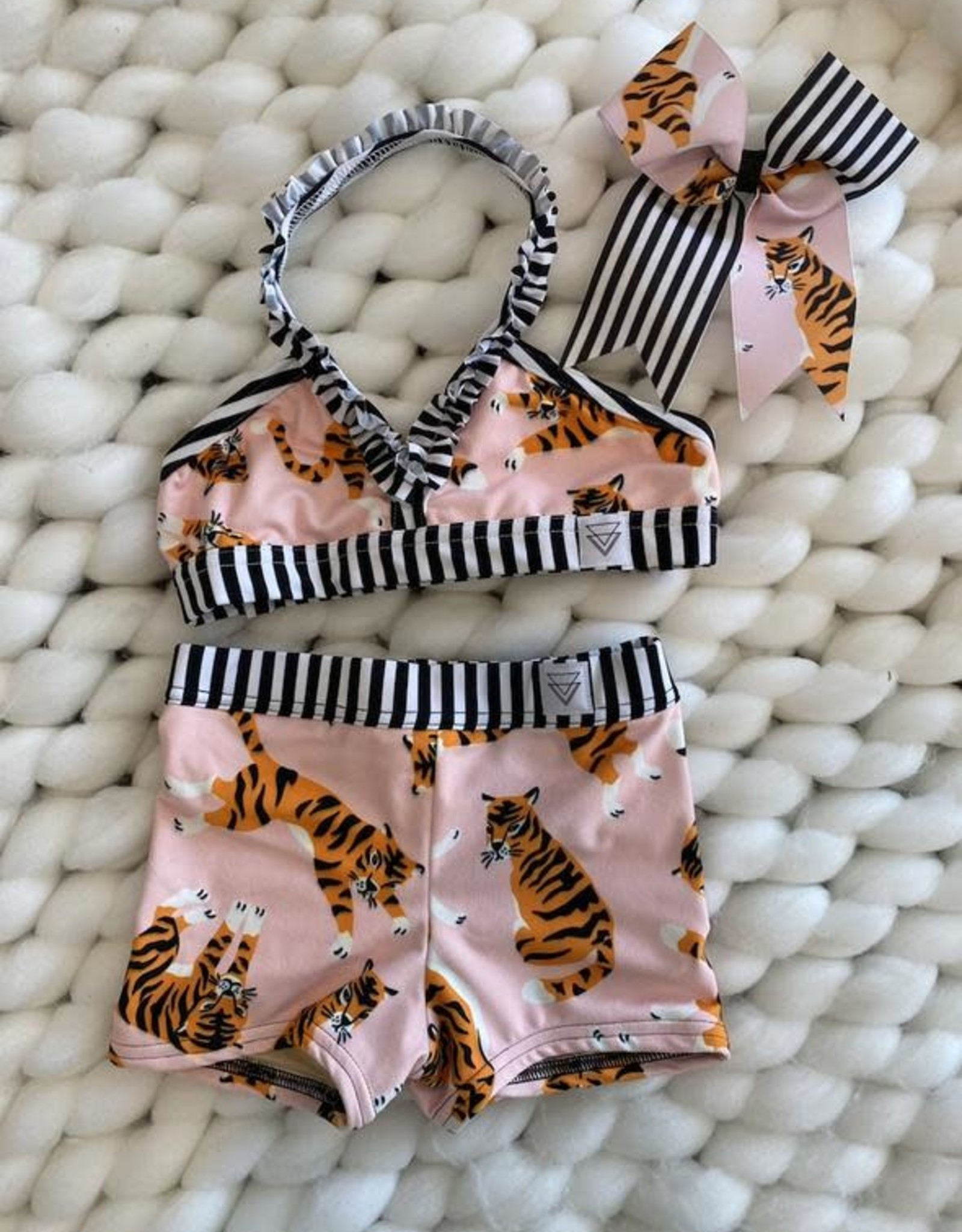 Lil Divas Dancewear The Brinkley Set // Tiger Queen