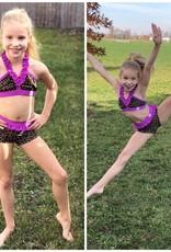Lil Divas Dancewear The Brinkley Set // Purple Cheetah