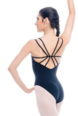 So Danca SL96  Double Strap Cami Leotard with a Star-like Strappy Back Adult