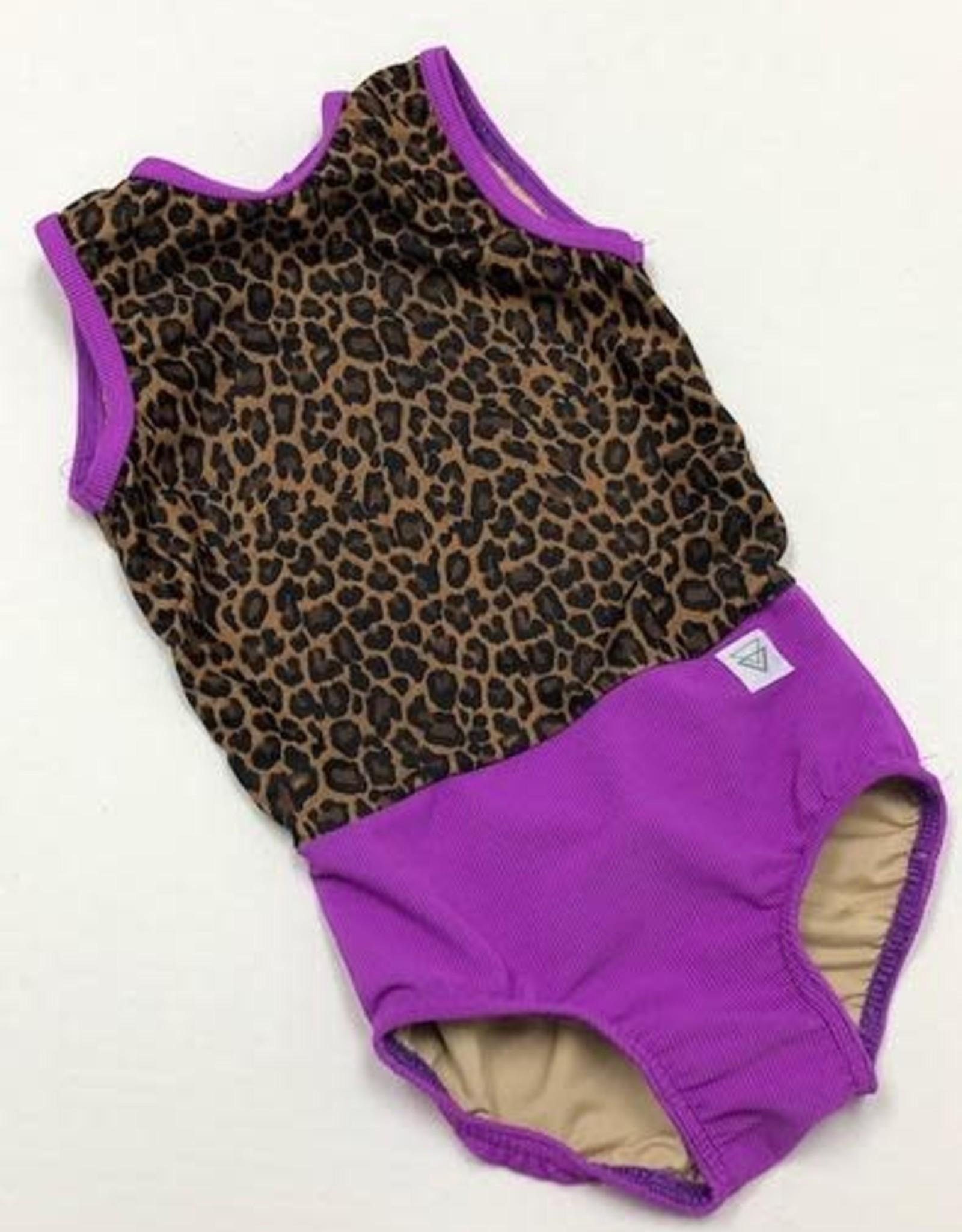 Lil Divas Dancewear The GiGi Leo // Purple Cheetah