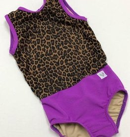 Lil Divas Dancewear The GiGi Leo // Purple Cheetah