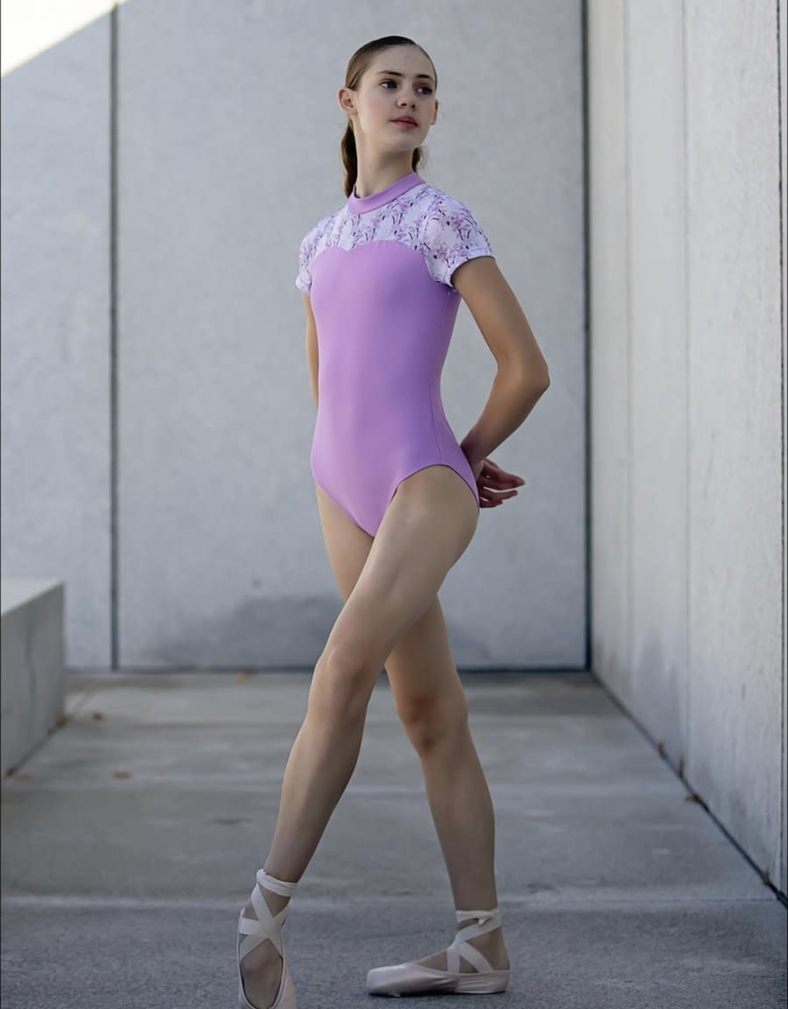 Chic Ballet The Isabella Leotard Violet Botanical (CHIC109-VOB)