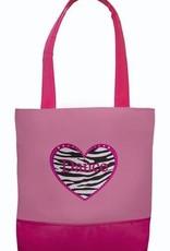 Sassi Designs ZHD-03 Zebra Heart Tote