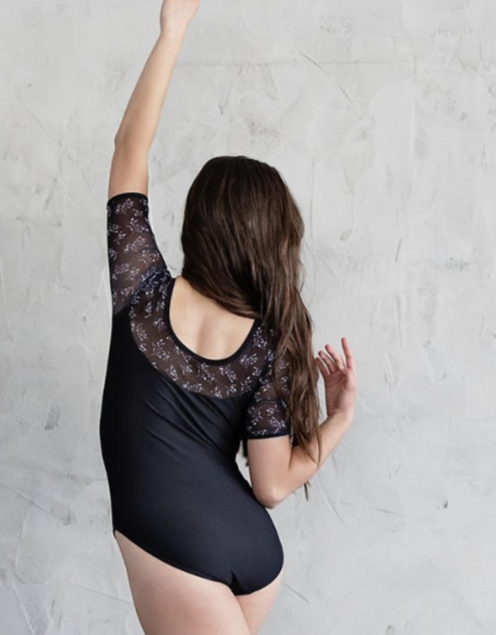 Chic Ballet The Octavia Leotard Black Floral (CHIC115-BFL)