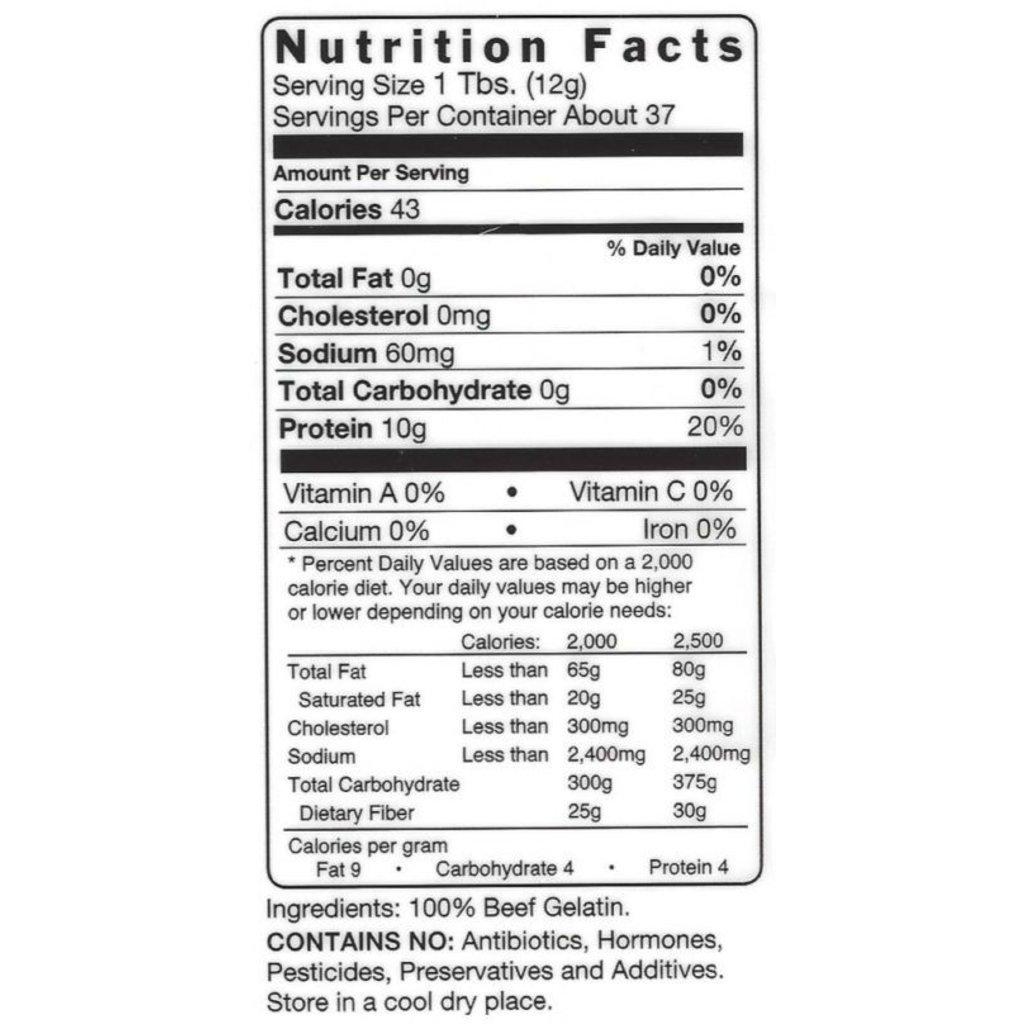 Trim Healthy Mama Just Gelatin: 100% Organic Beef Gelatin - 16 oz.
