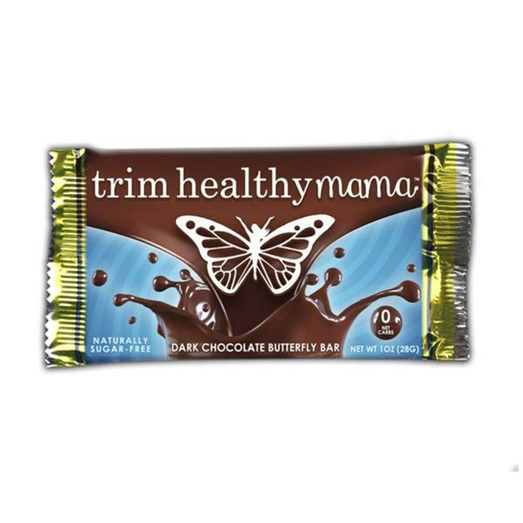 Trim Healthy Mama Butterfly Bar: Dark Chocolate (Naturally Sugar-Free), 1 oz.