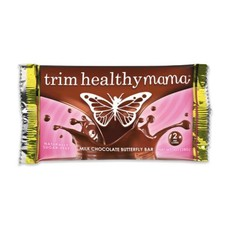 Trim Healthy Mama Butterfly Bar: Milk Chocolate (Naturally Sugar-Free), 1 oz.