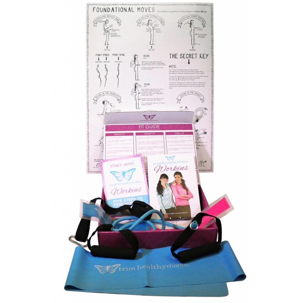 Trim Healthy Mama Workins: 9-DVD Comprehensive Exercise & Healing Program Designed Just for Women (Contains a mini book and a set of resistance bands)