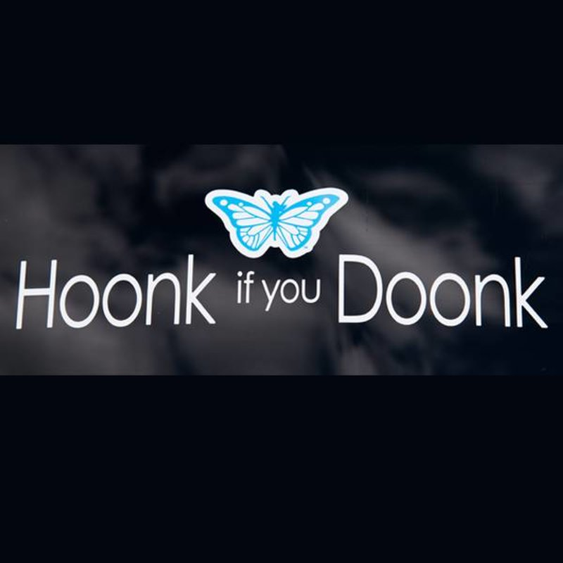 "Trim Healthy Mama Vinyl Window Decal - ""Hoonk if You Doonk"""